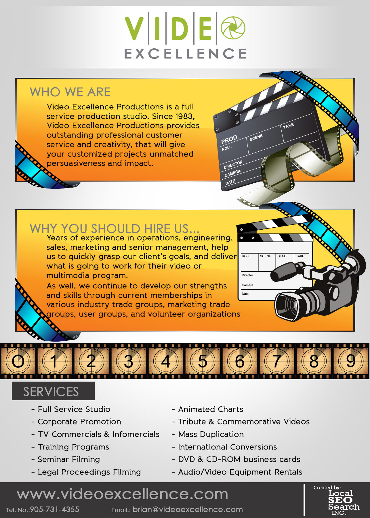 Video Excellence Infographic: Full Service Production Studio
